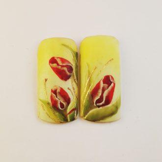 10 тюльпан дизайн на типсе